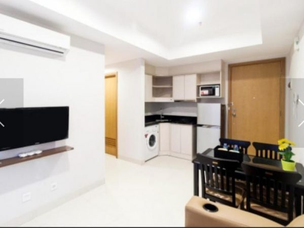 Apartemen The Mansion Bougenville 2 BR Hoek Furnish