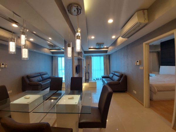 Disewakan CASAGRANDE RESIDENCE 1 Big SizeLiving ROOM WITH BALKON BATHUP WATERPARK VIEW VTAGL-OGC03